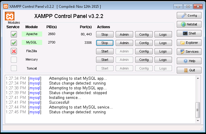 Habilitar MySQL en Windows