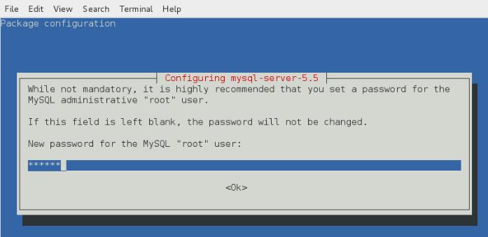 Contraseña para MySQL