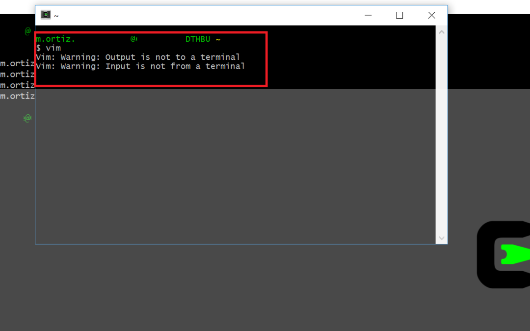 How to fix Cygwin Warning: Input is not from a terminal