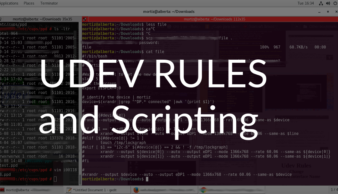 Running bash scripts using udev rules